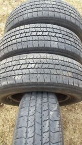 """Set of 4-185/70/14"""" All season tires on rims(4X100mm) bolt patte"""