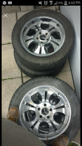 """20"""" Momo Rims w Tires . Was fitted compatible  06 Ram 5.7 Hemi"""