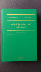 Administrative Law in Context, Flood, Sossin, 2nd edition
