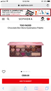 Too Faced Chocolate Bon Bons Eyeshadow Makeup Palette NEW