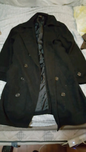 Men's felt trench coat
