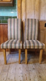 Pair of upholstered chairs, kitchen, dining room
