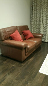 Leather Sofa Set for Sale !