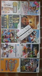Wii games and controller