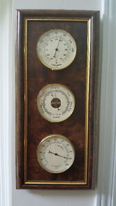 DECORATIVE WALL-MOUNT BAROMETER / THERMOMETER / HYGROMETER