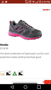 women's steel toed and plated work shoes
