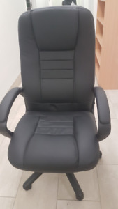 Ergonomic Faux-Leather High Back Office Chair