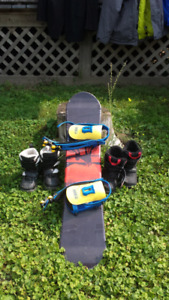 Kids Snowboard and boots $50