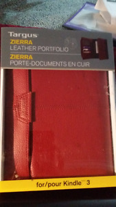 IN BOX -Targus Zierra Leather Portfolio for Tablet/Kindle