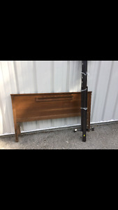 Solid wood headboard double/ queen size bed