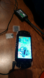 Working perfectly! PSP slim 2001 black with case and charger