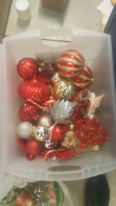 Whole set of xmas ornaments and decorations