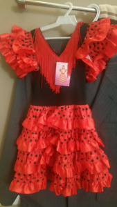 FLAMENCO DRESS  NEW (GOOD FOR HALLOWEEN TOO)  FOR 3 – 5 YEAR OLD