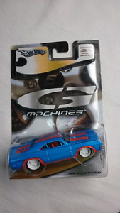 HOT WHEELS G MACHINES 69 DODGE CHARGER BLUE MINT 1:50 DIE CAST