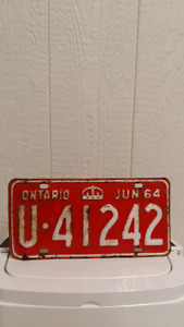 old licence plate