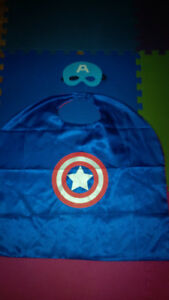 Captain America Mask and Cape- Child Size One Size Fits All