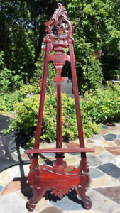 Chevalet antique en bois/Antique wooden easel