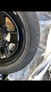 Tires and rims 255/55R18 - M+S black rims with tires