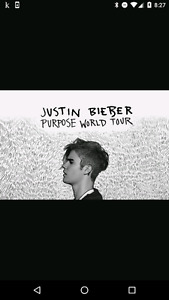 Justin Bieber Floor Seats!! Dont miss out!
