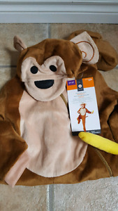 2T to 3T Monkey halloween costume. Brand new.