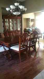 Like New- Dining Room Table with Hutch Windsor Region Ontario image 1