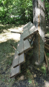 4 step stairs --with wooden steps