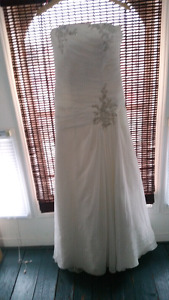 Beautiful wedding dress with a surprise for the bride to be