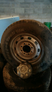 Set of 4 Steel Wheels And Tires For 3/4 or 1 Ton Ram