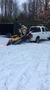 Rampe pour motoneige/sled deck