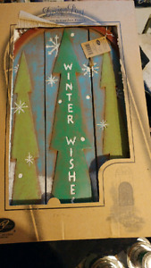 Winter decorative sign