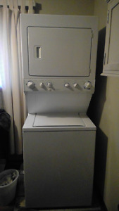 electrolux stackable washer/gas dryer combo