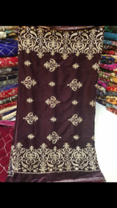 Beautiful embroidery valvet shawls available