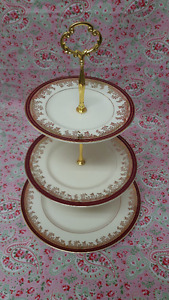 "Myott Sons & Co. ""Royalty""  3 tier cake stand"