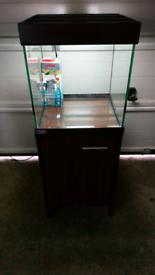 Eheim 125 Scuba Cube Fish Tank with Walnut Cabinet