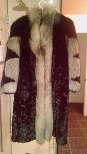 Manteau fourrure vison et renard