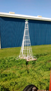 "Lighthouse  12"" tall. All steel welded glass in top"