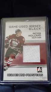 Peter Holland/Michael Latta 09/10 Heroes Prospects Jersey Cards