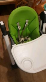 Peg perego child's seat chair adjustable feeding
