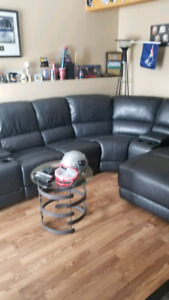Faux leather sectional(Teppermans) sold pending pickup
