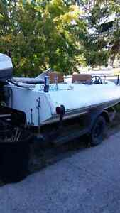 Boat and trailer for sale. Starflight motor, I believe 750hp