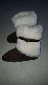 Emu brand suede leather and fur boots