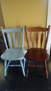 Set of Six Solid Wood Dining Chairs