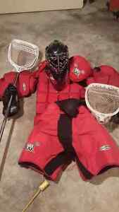 Lacrosse goalie gear