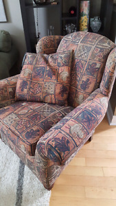 Carleton house wing back chair
