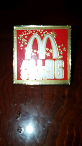 McDonald's buttons and pin