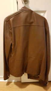 Zara Men Genuine Leather jacket ( Large but feels like medium)