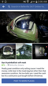 Dye i4 paintball/airsoft mask