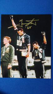 Photo autographiée Tommie Smith Olympiques Mexico '68