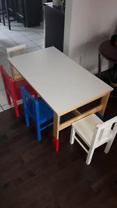 Table et chaises enfants