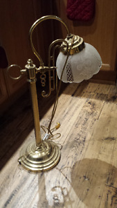 Ladies TALL brass desk lamp